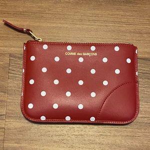 Comme de Garçons polka dot leather pouch